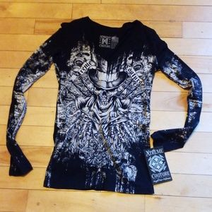 NEW Xtreme Coture Long Sleeve Top